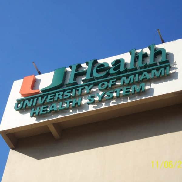 University of Miami Hospital   Baron Sign Manufacturing