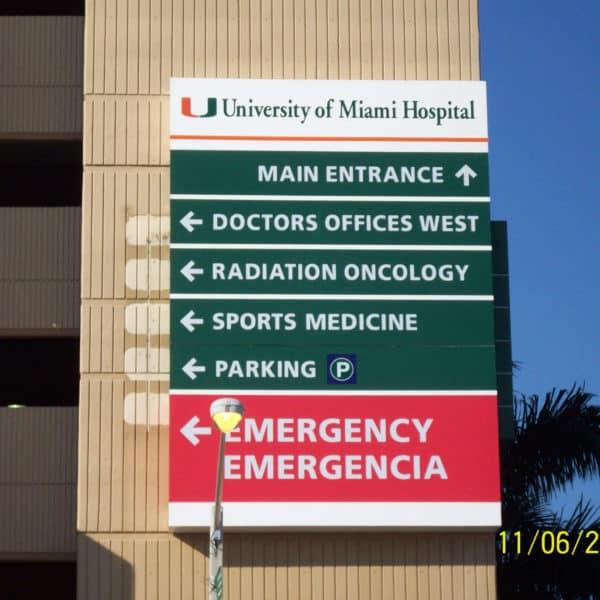 University of Miami Hospital | Baron Sign Manufacturing