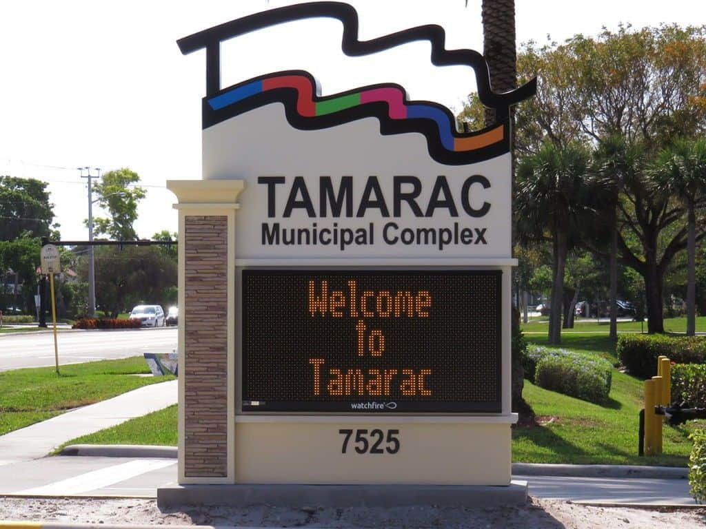 Tamarac Unveils New Look with Updated City Signage | Baron
